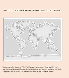 Folk Tales Around the World--a comprehensive study for elementary students World Bulletin Board, Bulletin Board Display, Continents And Oceans, Unit Plan, Elementary Teacher, Rubrics, Language Arts, Folk, Students