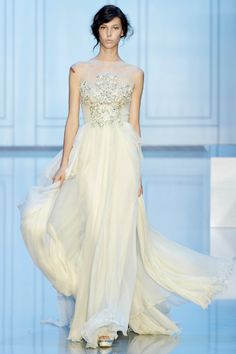 Elie Saab Couture Wedding Gown Fall Winter 2011 Paris.