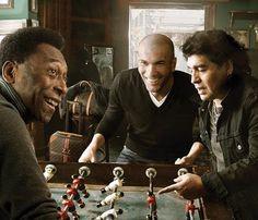 Pele, Zidane & Maradona. Annie Leibovitz