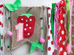 Strawberry Birthday Banner Strawberry Birthday Picnic