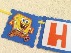 Sponge bob birthday banner Sponge bob square pants by NiuDesigns, $22.00