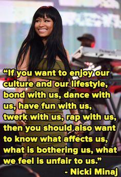 I don't like Nikki Minaj much but I love this quote