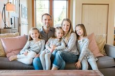 Gorgeous Southwest Washington Home | Lifestyle Family Photo Session | Pacific Northwest Wedding and Portrait Photography | Cozy in Home Lifestyle Session | Couch family picture.jpg