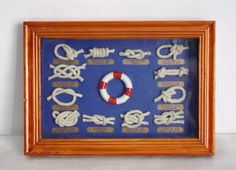 Handcrafted Miniature Nautical Knot Display (Framed Artwork). $15.00, via Etsy.