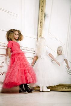 Jean Paul Gaultier has introduced a couture line for children - statement partydresses styled with Dr Martens.