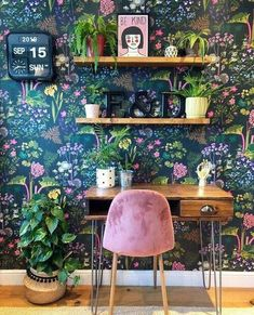 homedecor bohemian Home Remodel Interior Bohemian Latest And Stylish Home decor Design And Life Style Ideas Home Office Setup, Home Office Space, Office Spaces, Office Ideas, Stylish Home Decor, Cheap Home Decor, Quirky Home Decor, Deco House, Home Design