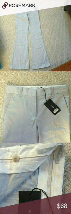 Hugo Boss trousers NWT These are so luxurious and well tailored!!! Wish they fit, says size 2, but are more like a size 0-00. Light grey. Hugo Boss Pants Boot Cut & Flare