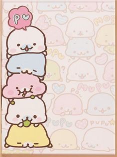 beige mini Note Pad colourful Mamegoma baby seals 3 $2.50