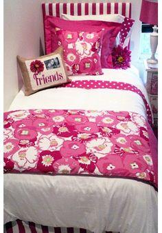 Pink Begonia Designer Teen & Dorm Bed in a Bag