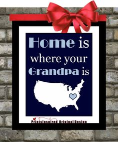 Home or Love is where your Grandpa is Print Papa by Printsinspired
