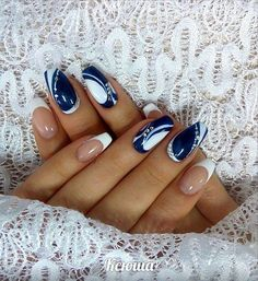 65 Beautiful Nail Art Designs - Ankara Lovers - 65 Beautiful Nail Art Designs The Effective Pictures We Offer You About party Makeup A quality pic - Nail Art Design Gallery, Gel Nail Art Designs, French Nail Designs, Stylish Nails, Trendy Nails, Glamour Nails, Geometric Nail Art, Nail Patterns, Beautiful Nail Art