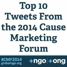 Top 10 Tweets from Cause Marketing Forum! #CMF2014