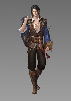 ArtStation - 大航海, E 森 Fantasy Male, Fantasy Rpg, Medieval Fantasy, Fantasy Artwork, Fantasy Character Design, Character Design Inspiration, Character Concept, Character Art, Dungeons And Dragons Characters