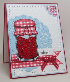 Stamps - Our Daily Bread Designs Gingham Background, Canning Jars, Little Girls, Canning Jar Fillers 2, ODBD Custom Canning Jars Die, ODBD Custom Ornate Borders & Flower Die