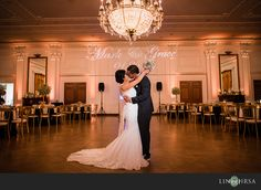 love the solo shot on the dance floor with the monogram in background (doesn't have to be kissing)