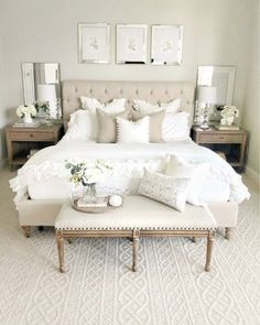 Get inspired by Cottage/Country Bedroom Design photo by Wayfair. Wayfair lets you find the designer products in the photo and get ideas from thousands of other Cottage/Country Bedroom Design photos. Country Bedroom Design, Master Bedroom Design, Home Decor Bedroom, Airy Bedroom, Bedroom Furniture, Ikea White Furniture, White Rustic Bedroom, White And Silver Bedroom, Bedroom Neutral