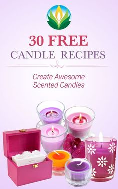 30 Free Candle Recipes gives customers free candle recipes from Nature's Garden.