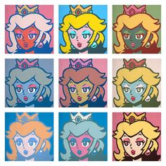 DOT ART Princess Peach