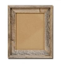 Barnwood frames from rusticdecorllc.com for escort card/horseshoe table