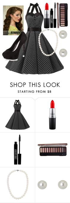 """""""fifties earrings"""" by mymusicrocks ❤ liked on Polyvore featuring MAC Cosmetics, Lord & Berry, Blue Nile, Givenchy and New Look"""