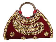 DEEP RED VELVET BRIDAL PURSE #Sale #Off #streetbazaar # navratri#offer#sale