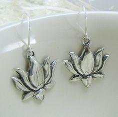 Lovely Lotus shaped earrings.