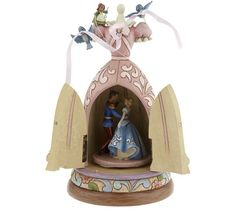 "Jim Shore ""A Dream Is A Wish Your Heart Makes"" Cinderella Musical Figure with Bluebirds"
