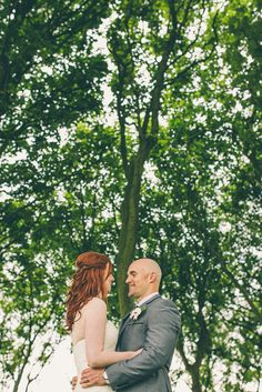 Bride & Groom in woodland, North Bay, Scarborough, North Yorkshire. www.njphotographic.co.uk