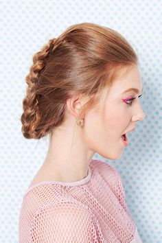 A French faux-hawk will nix a midweek rut. Just French-braid your hair, flip the tail up, and pin it at the crown. Lock it in with hairspray.   - Seventeen.com