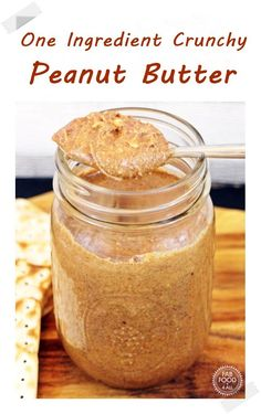 One Ingredient Crunchy Peanut Butter - making your own peanut butter ensures it's additive free. Once you've made this recipe I don't think you'll ever want to buy peanut butter again - so healthy & delicious! Baking Recipes, Real Food Recipes, Yummy Food, Budget Recipes, Vegetarian Recipes, Healthy Comfort Food, Peanut Butter Recipes, Savory Snacks, Brunch Recipes