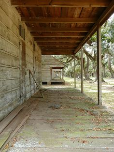 "Evergreen Plantation, LA ~ slave quarters I entered a few records of slaves arriving in LA and MS, I believe it was called ""The World Connect"" project, via Ancestry.com"