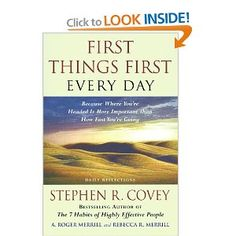 First Things First Everyday by Stephen R. Covey, available at Book Depository with free delivery worldwide. Highly Effective People, Stephen Covey, Data Recovery, The One, Daily Reflections, Phoenix, Relationships, Brother, Action