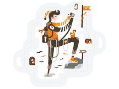 Sport Illustration / Alpinist by Belcdesign