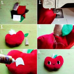 Apple Plush Pillow Tutorial (with download!) - A Beautiful Mess