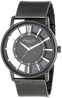 Kenneth Cole New York Men's KC9176 Gray Stainless Steel Watch with Mesh Band >>> Read more reviews of the product by visiting the link on the image.