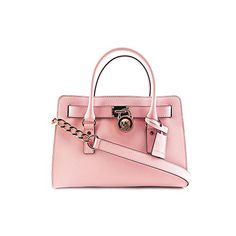 Women's Top-Handle Handbags - Michael Kors Hamilton Saffiano Leather Medium Satchel in Blossom -- Find out more about the great product at the image link.