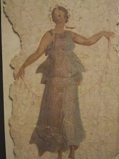 Roman Frescoes unearthed during the construction of Termini Railway Station 2nd-3rd century CE. Photographed at the Museo Nazionale Romano in the Baths of Diocletian, Rome, Italy.