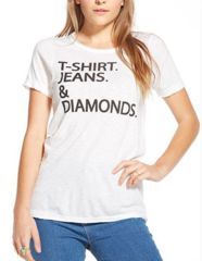 Chaser the simple life crew neck tee in gauze white - shophearts - 6