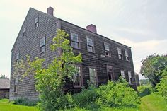 The Moorehouse Residence    ca 1820 - A Connecticut Loyalist, Daniel Moorehouse magistrate, farmer, highway supervisor, gristmill owner and militia major. This typical Loyalist home has a summer kitchen with a large fireplace used for cooking.