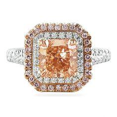 LEPOZZI 2.07 CT #FANCY #ORANGE #PEACH #DIAMOND #PLATINUM #ENGAGEMENT #RING #RARE #BEAUTY #GEM  #laurenb #lepozzi #engagementrings #brides #bridal #weddings #wedding #diamonds #nycjewelry #engagement #weddingday #custom #customsettings