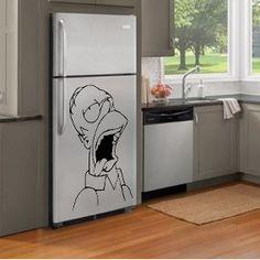 Vinilo Decorativo Skin Heladera Homero Simpson Personaje