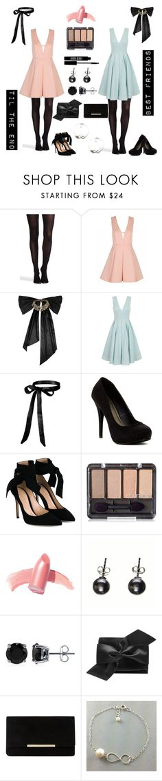 """""""Sleeping Beauty Best Friends"""" by leighatkisson ❤ liked on Polyvore featuring SPANX, Oscar de la Renta, Chi Chi, Michael Antonio, Gianvito Rossi, Elizabeth Arden, Lord & Berry, Black, BERRICLE and Victoria Beckham"""