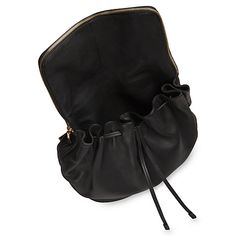 Buy Whistles Slouchy Drawstring Backpack, Black Online at johnlewis.com