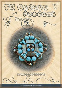 *P pendant tutorial / pattern T.K.Gedeon with Tila beads...PDF instruction for personal use only. $13.00, via Etsy.