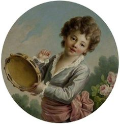 Child with a Tambourine, 1772 by François hubert Drouais