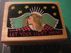 """Uptown Rubber Stamp """"Let Your Light Shine"""" F5629 Darrow Crittendon 