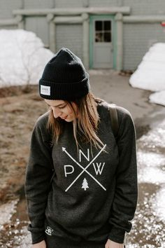 The Original PNW Pride Midweight Raglan Style Crewneck Sweater - Available in 2 Colors - Perfect for Spring time in the Pacific Northwest Laid Back Style, My Style, Pacific Northwest Style, Buy T Shirts Online, Cute Shirts, Hooded Sweatshirts, Crewneck Sweater, Crew Neck, Clothes For Women