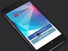 Analytics app - login by Lukáš Kus for Socialbakers