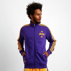 Jaqueta Adidas NBA Los Angeles Lakers - Roxo