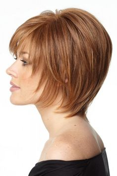 If you're looking for Short Auburn Straight Human Hair Wigs, Howigs is the perfect choice. Order Human Hair Wigs at professional online shop. Short Hair Styles Easy, Short Hair With Bangs, Short Hair Updo, Short Hair With Layers, Layered Hair, Short Hairstyles For Women, Hairstyles With Bangs, Short Hair Cuts, Medium Hair Styles